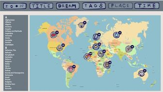 World Wide Dream Web is a social network for dream sharing that creates interactive Dream Maps. What do our cities dream about when the sun sets? What is that universal planetary language we all share?