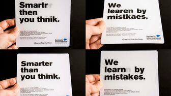 Smarter Than You Think is a campaign aiming to raise awareness about dyslexia and promoting understanding and empathy towards this condition through the concept of design.